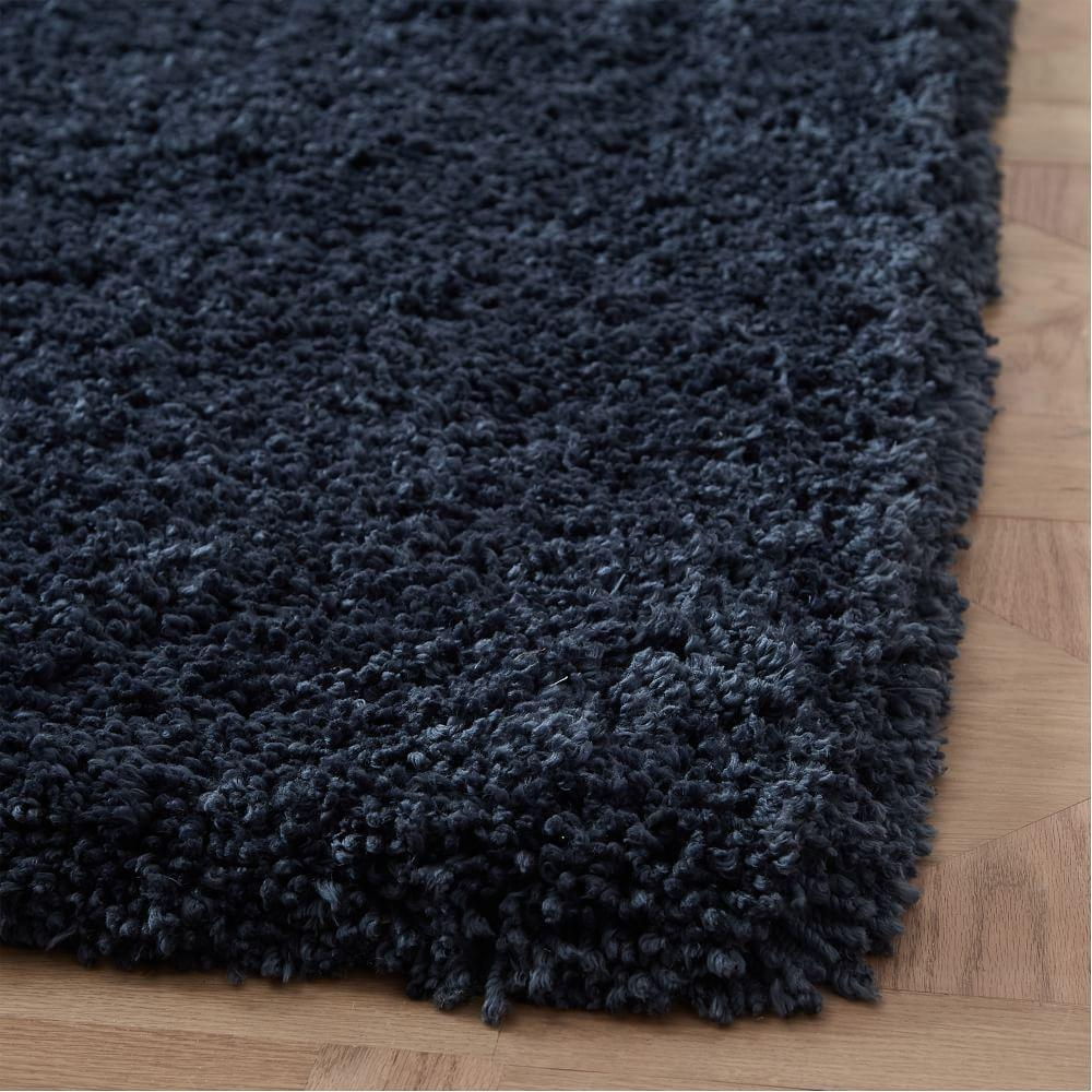 Cosy Plush Rug - Shadow Blue