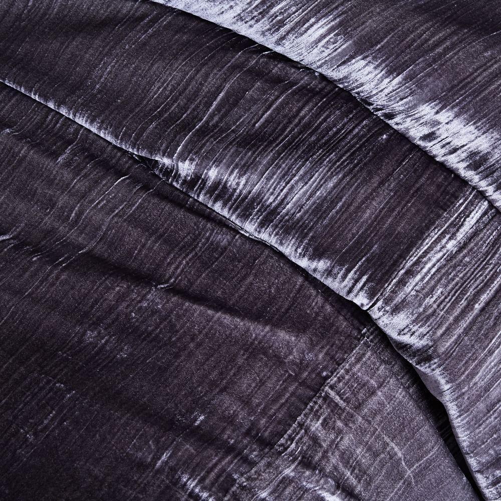 Crinkle Velvet Quilt Cover + Pillowcases - Slate