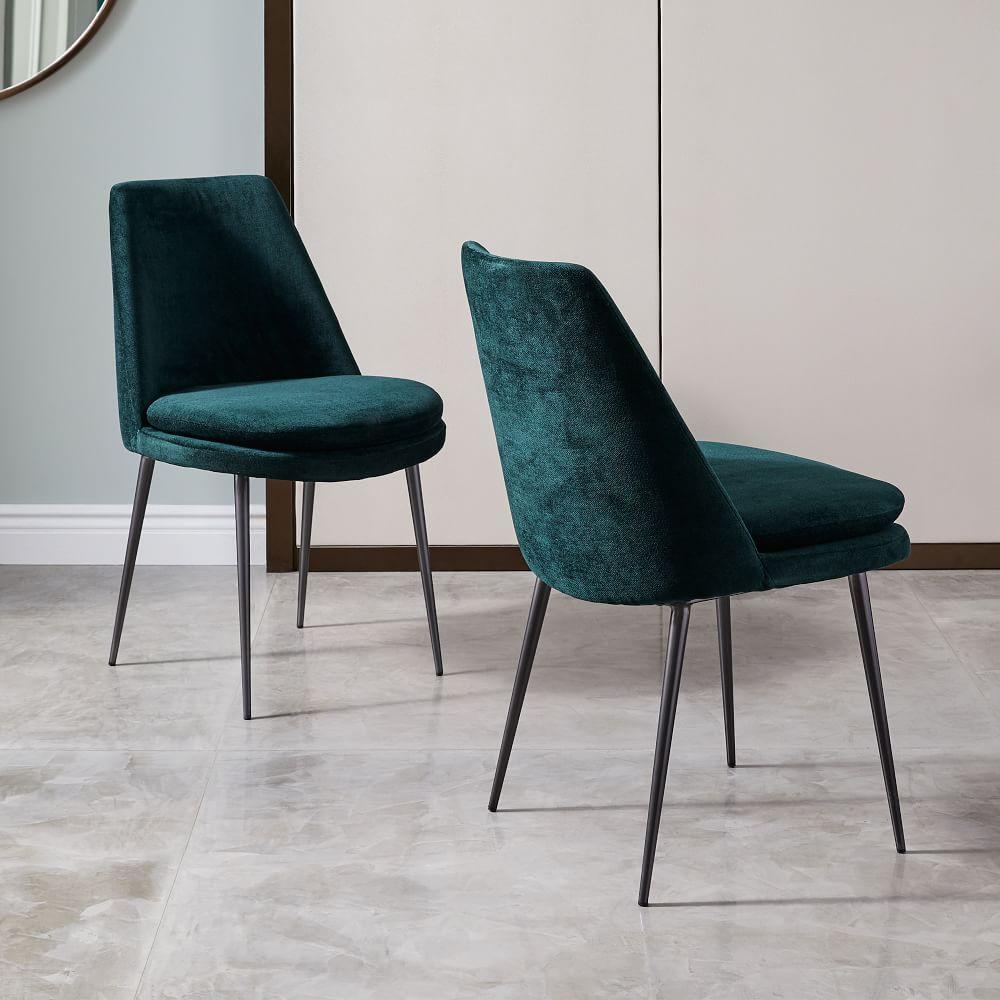 Finley Low Back Velvet Dining Chair West Elm Au