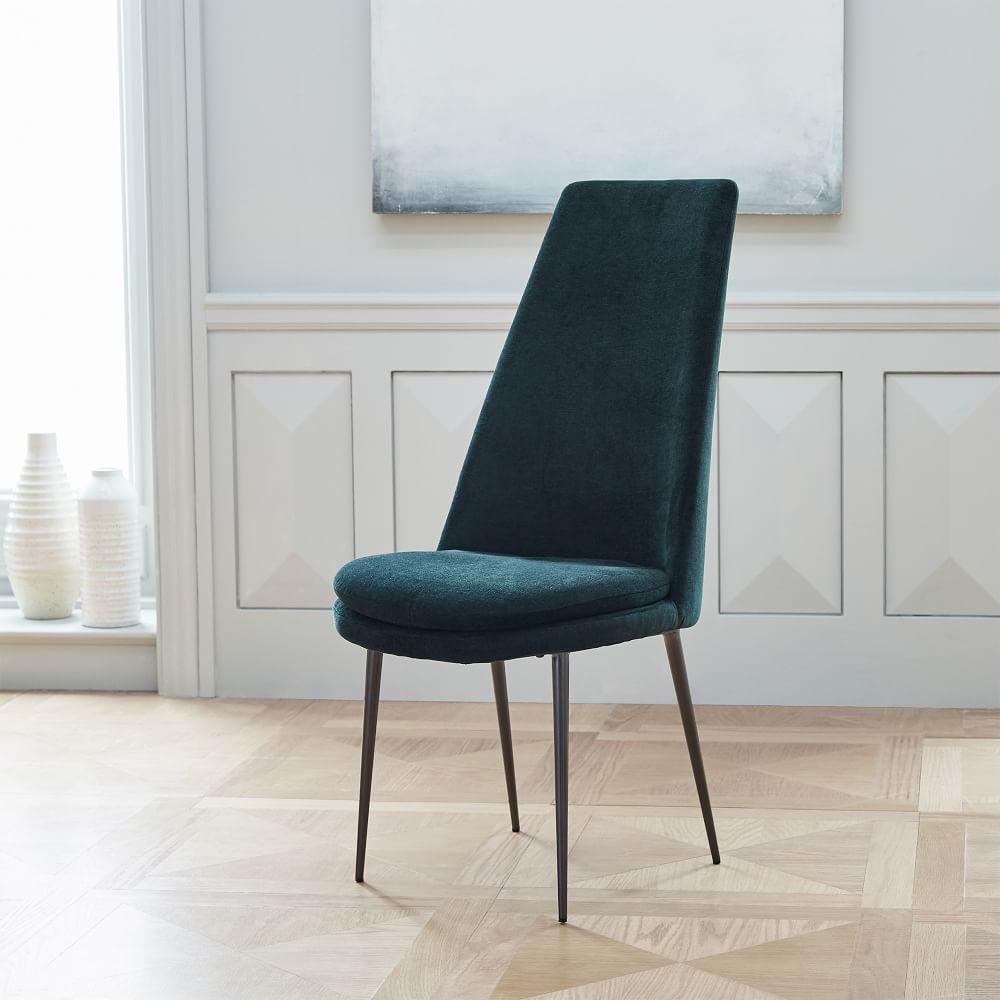 Finley high back velvet dining chair