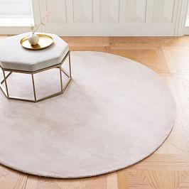Lucent Round Rug - Dusty Blush