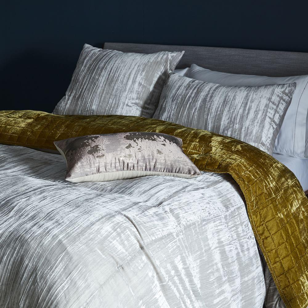 Lush Velvet Coverlet Pillowcases Wasabi West Elm