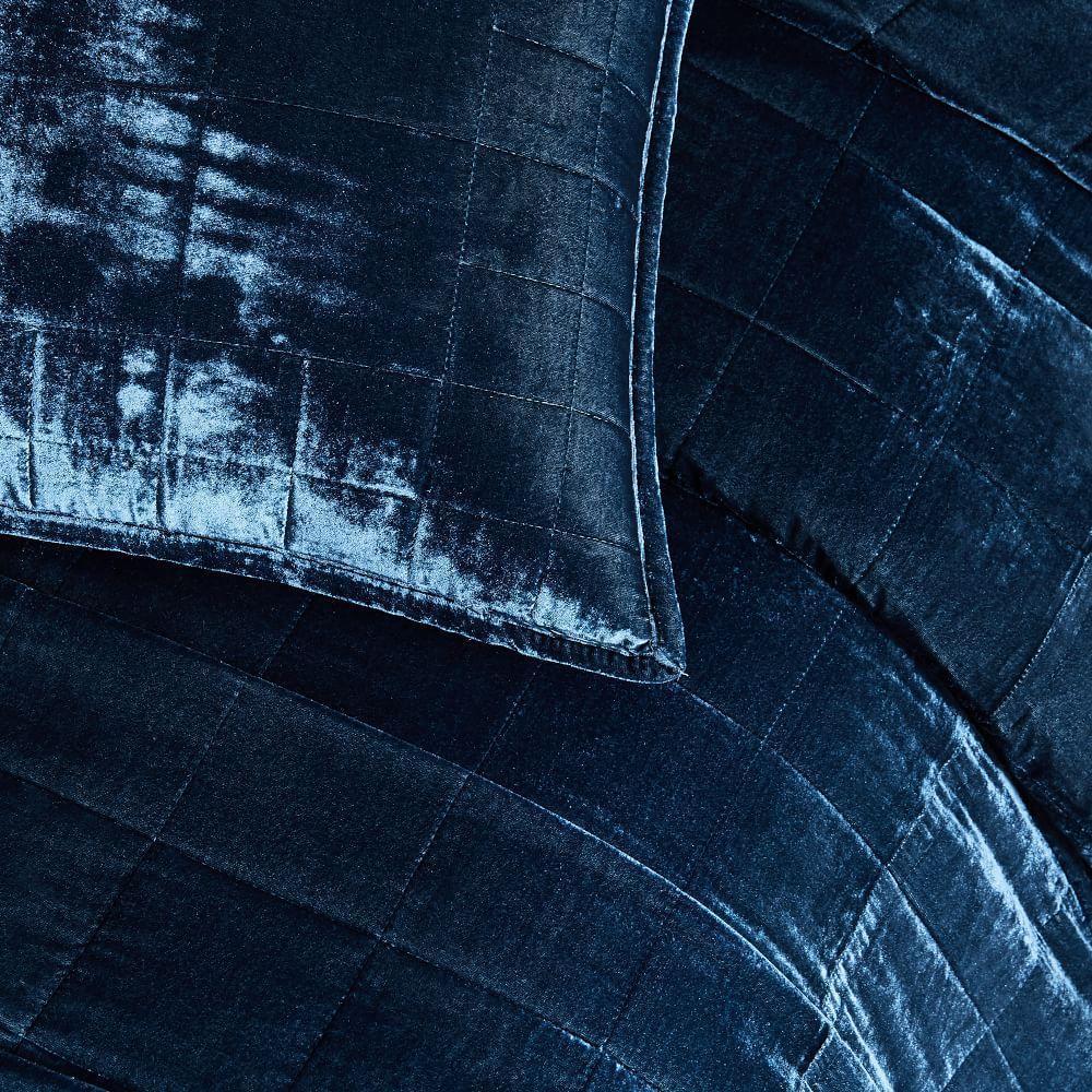Lush Velvet Coverlet + Pillowcases - Regal Blue