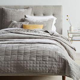Lush Velvet Coverlet + Pillowcases - Platinum