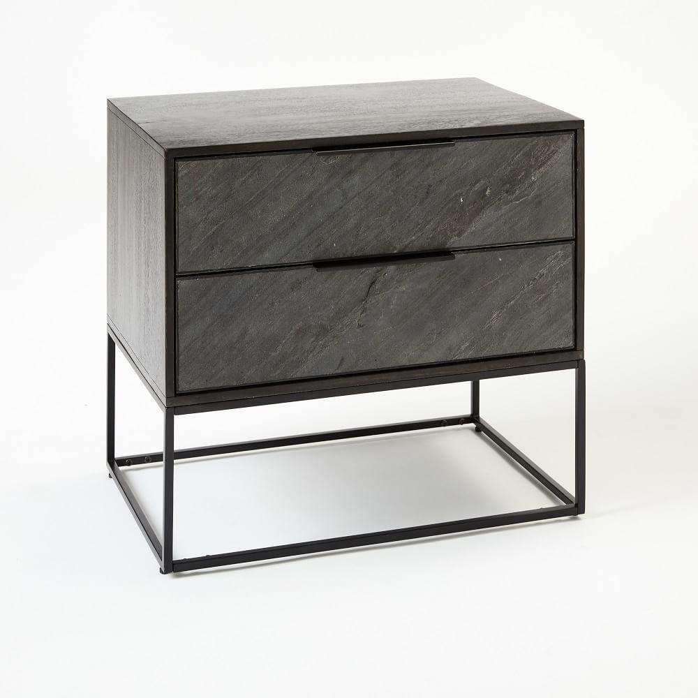 Slate Industrial Bedside Table West Elm Australia