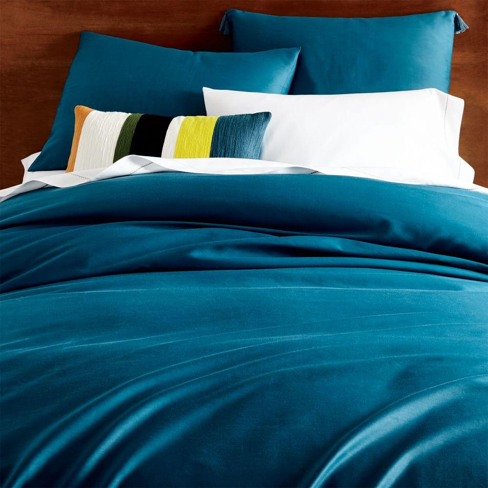 TENCEL™ Quilt Cover + Pillowcases - Blue Teal