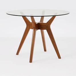 Jensen Round Glass Dining Table