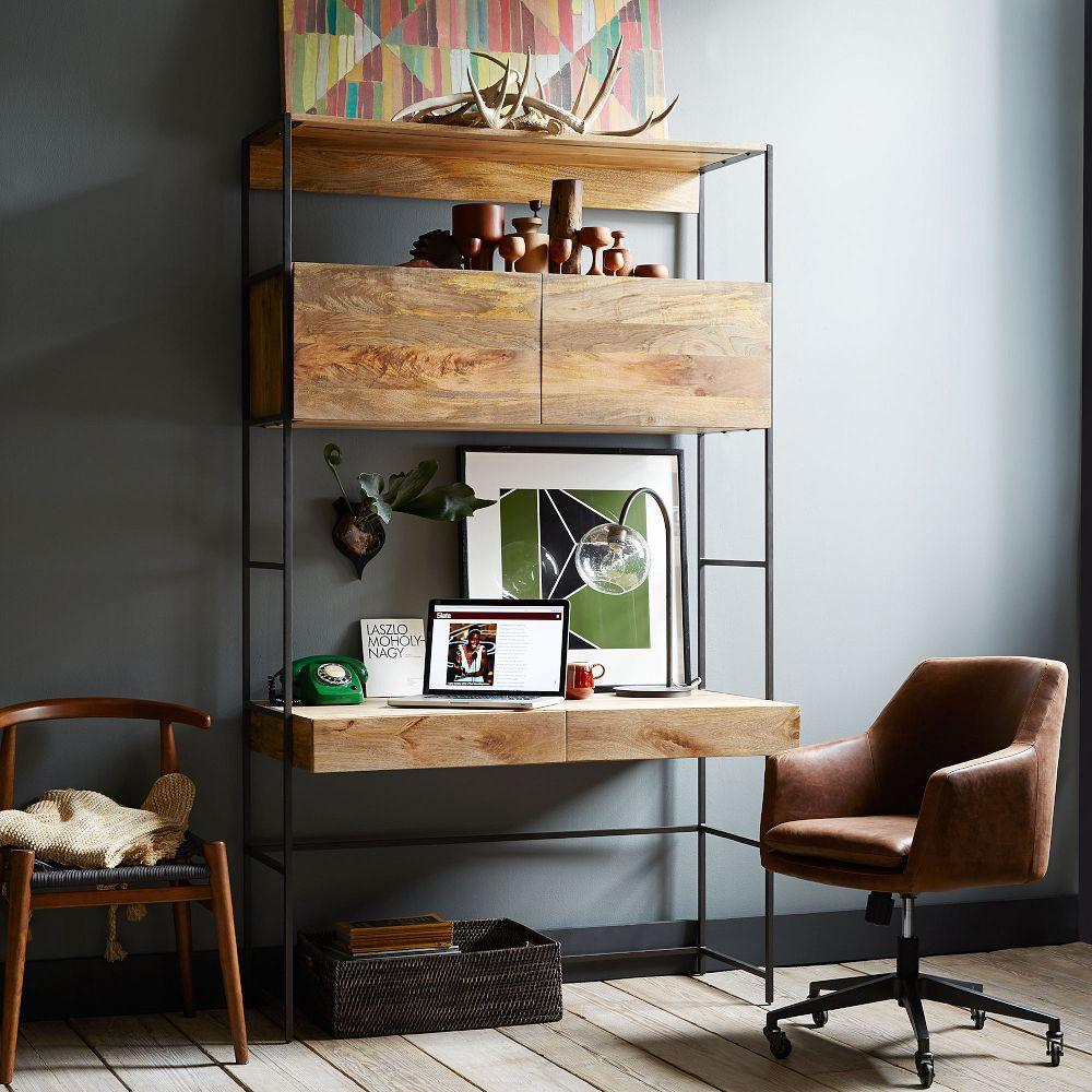 Helvetica Leather Office Chair West Elm Australia