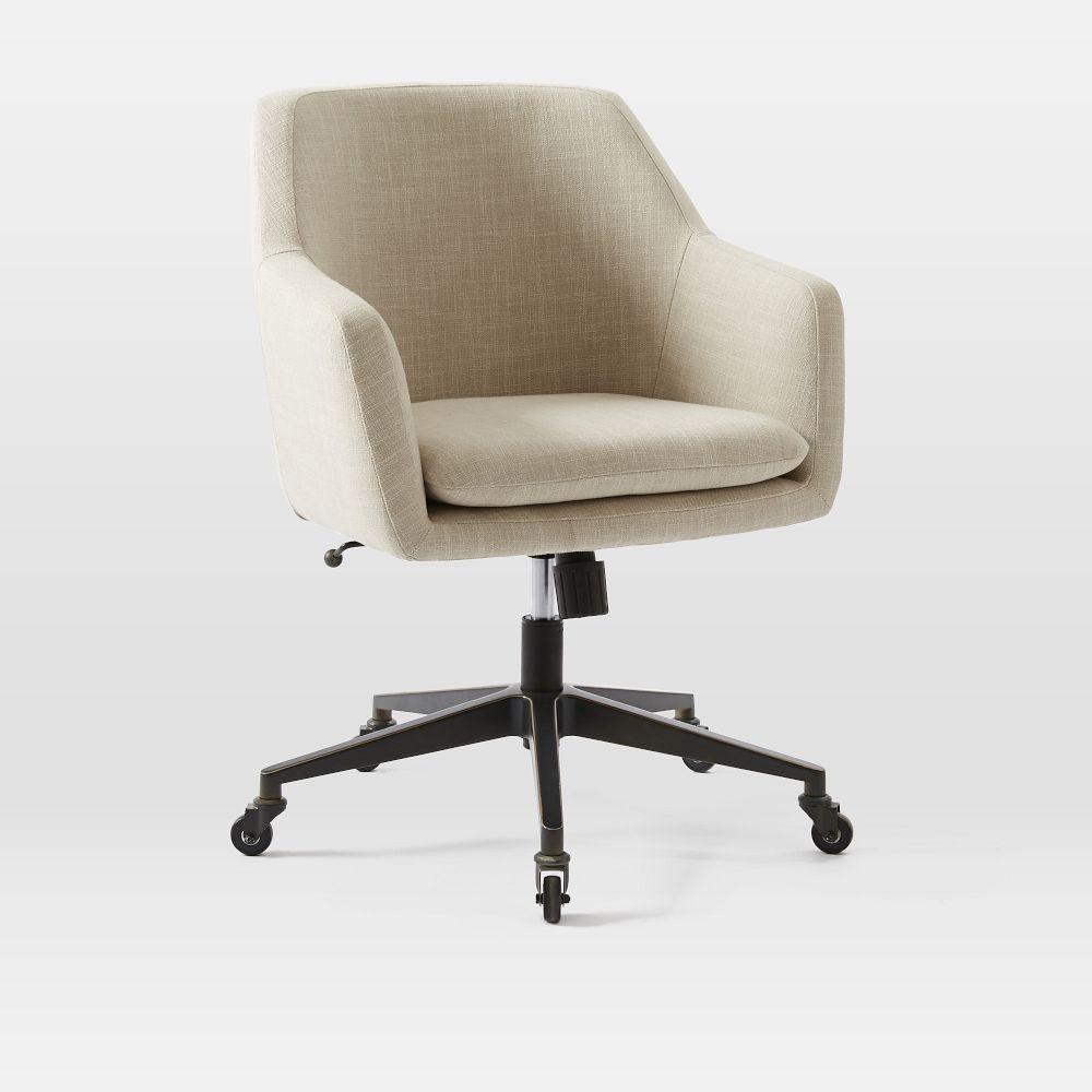 linen modern adjustable pinterest images upholstered swivel l desk best seating on chair lagoon of in