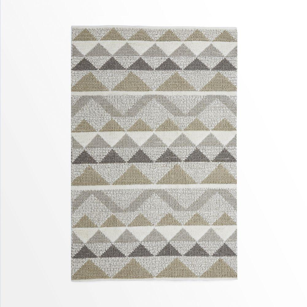 Purple Triangle Rug: Knotted Triangle Wool Rug
