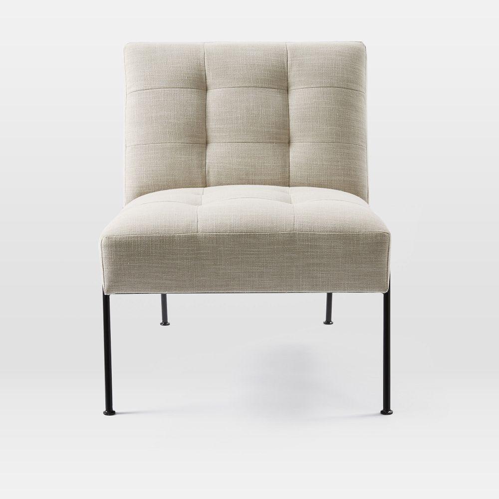 oswald tufted slipper chair  west elm au - oswald tufted slipper chair