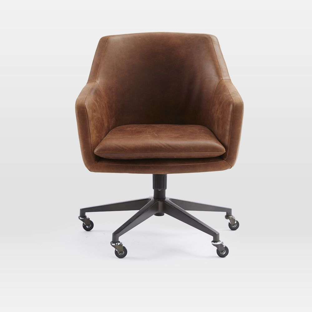 Helvetica Leather Office Chair