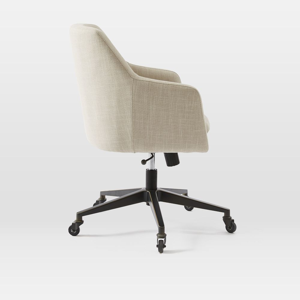 Helvetica Upholstered Office Chair West Elm Au