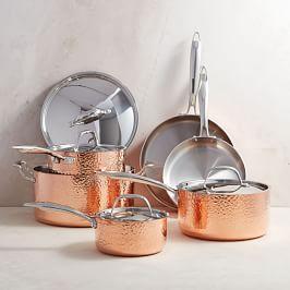 Fleischer and Wolf Seville Copper 10-Piece Tri-Ply Cookware Set