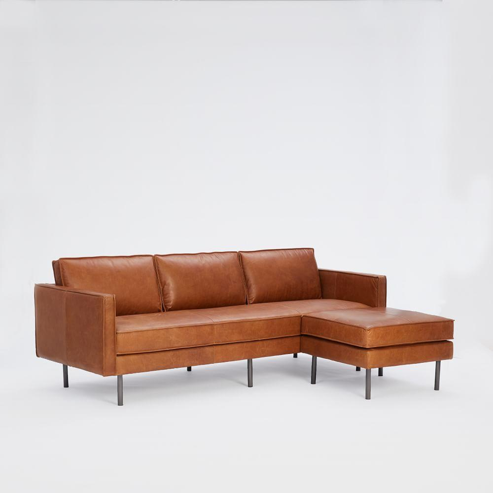 Stupendous Axel 3 Seater Leather Sofa 226 Cm Ottoman Set West Elm Bralicious Painted Fabric Chair Ideas Braliciousco
