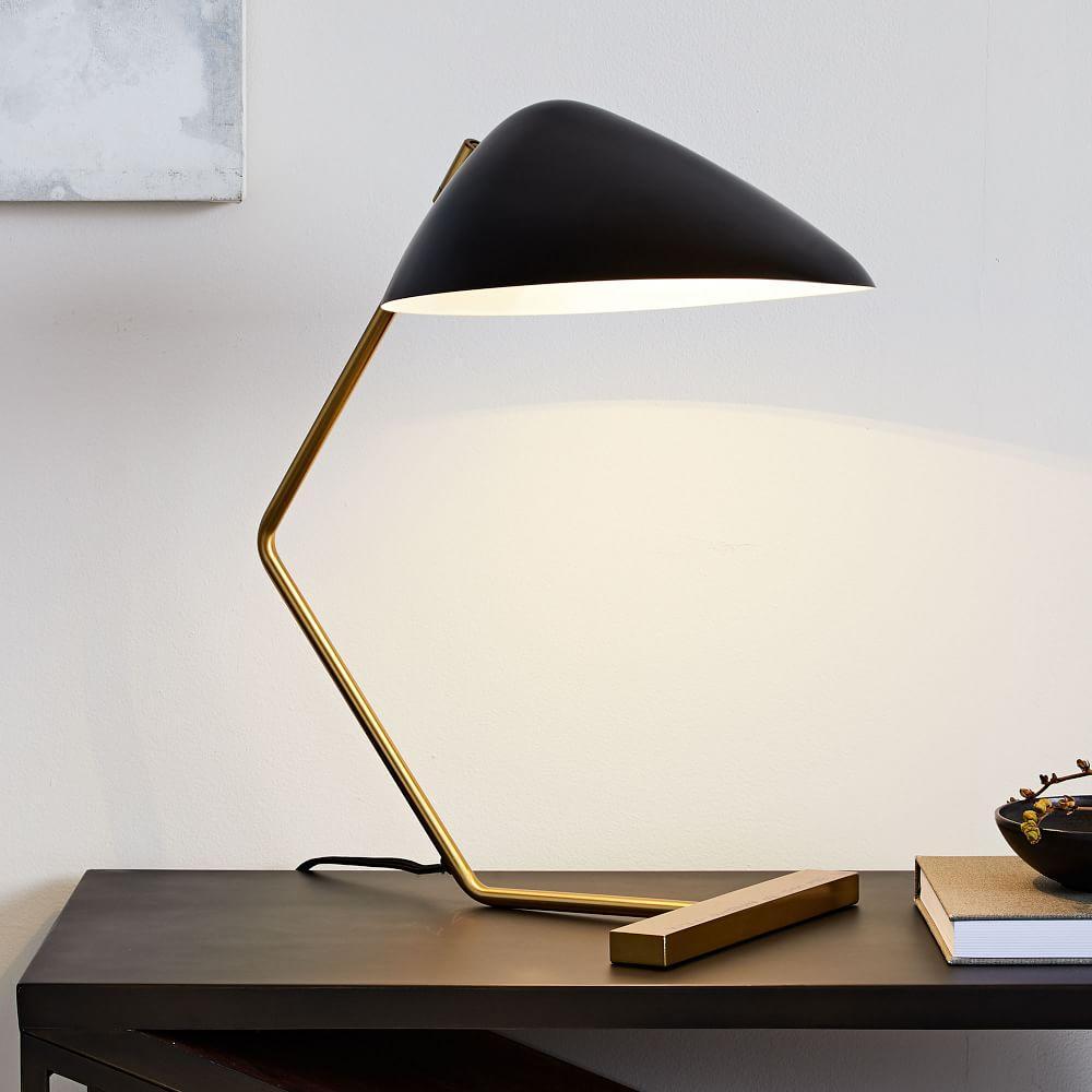 Curvilinear Mid Century Table Lamp West Elm Australia
