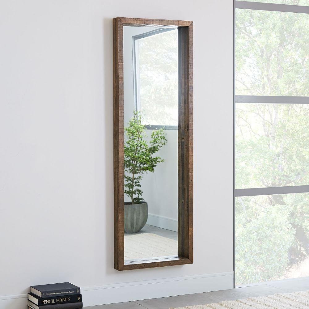 Emmerson® Modern Reclaimed Wood Floor Mirror | west elm Australia