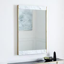 Marble + Brass Wall Mirror