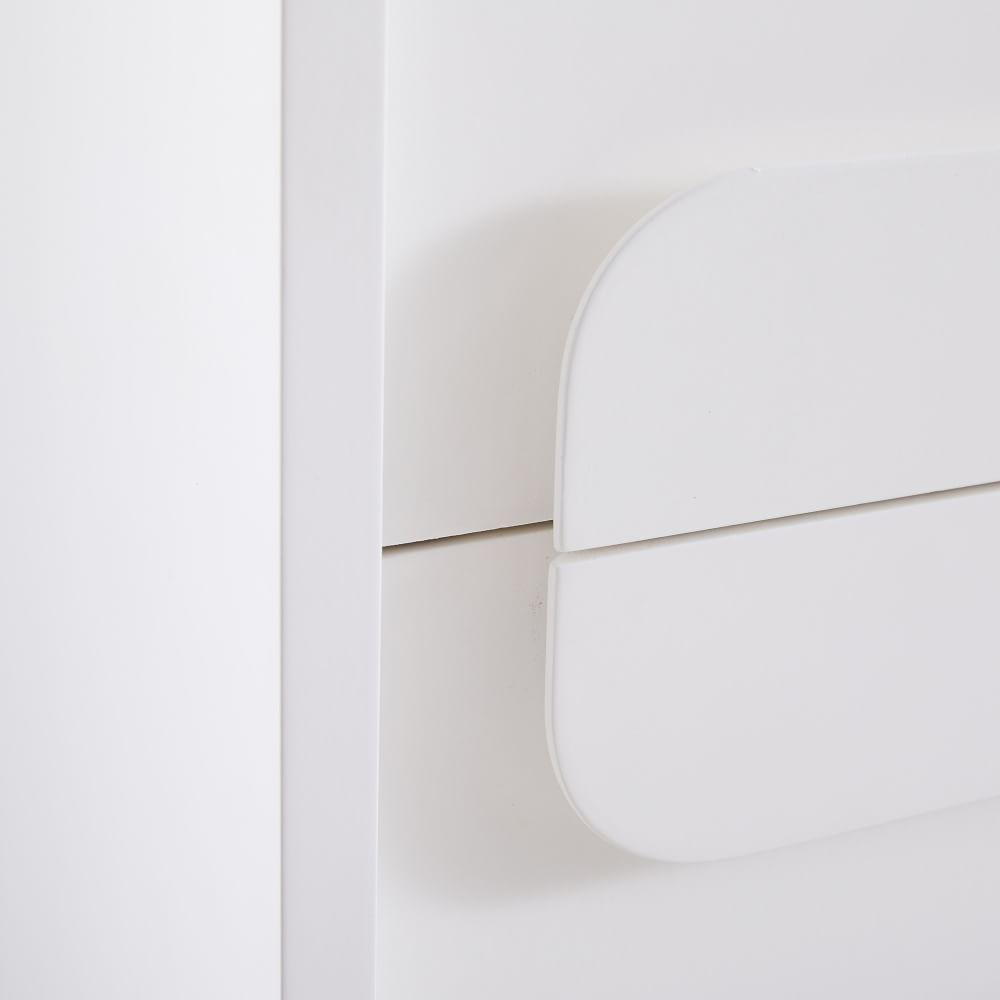 Gemini Bedside Table - White Lacquer