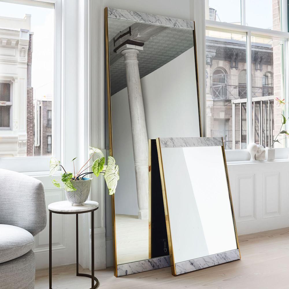 Marble + Brass Floor Mirror | west elm Australia