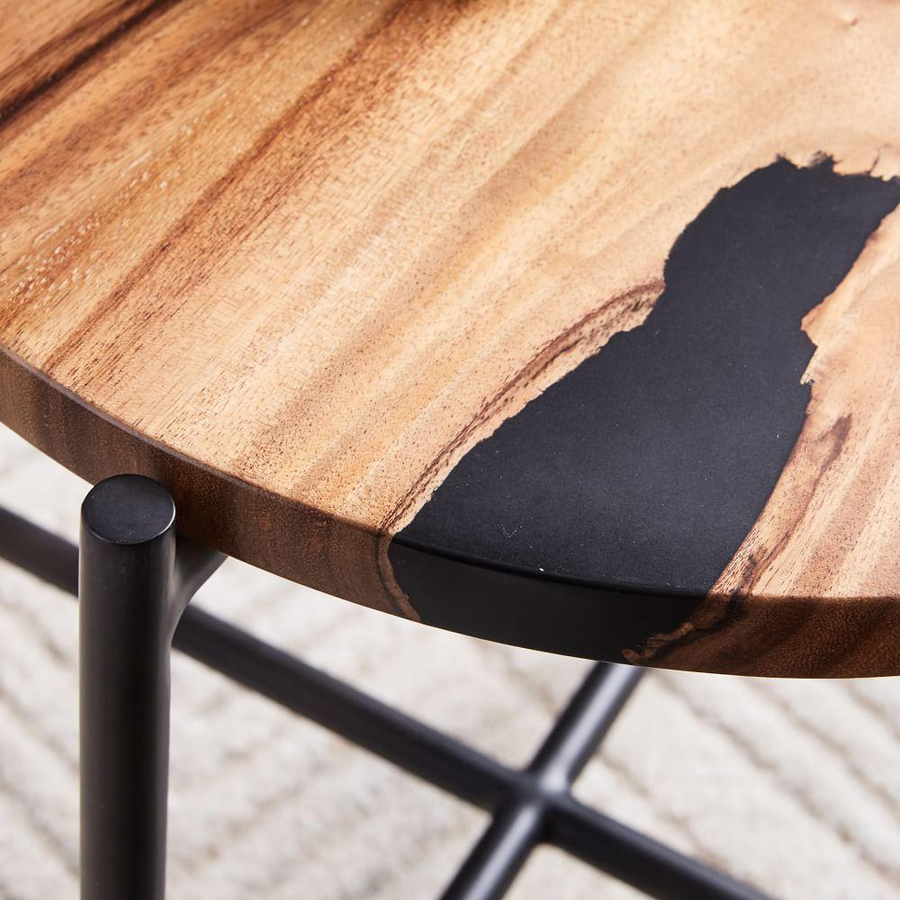 Wood Resin Round Side Table West Elm Australia