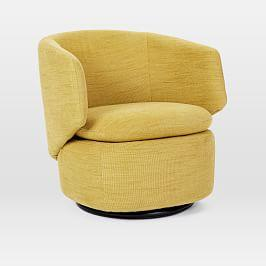 Armchairs ottomans west elm au for West elm yellow chair