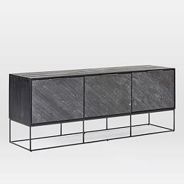 Slate Industrial Media Console (173 cm)