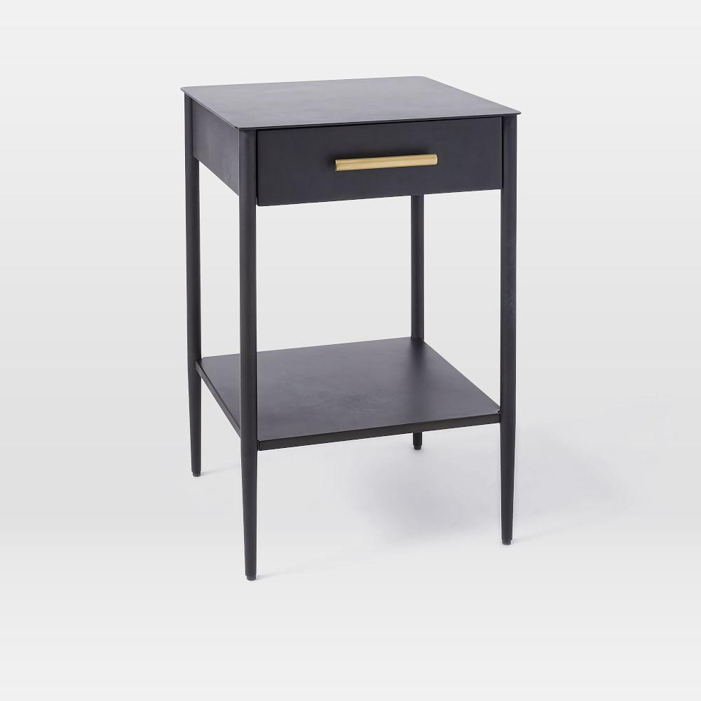 Metalwork Bedside Table - Hot Rolled Steel Finish