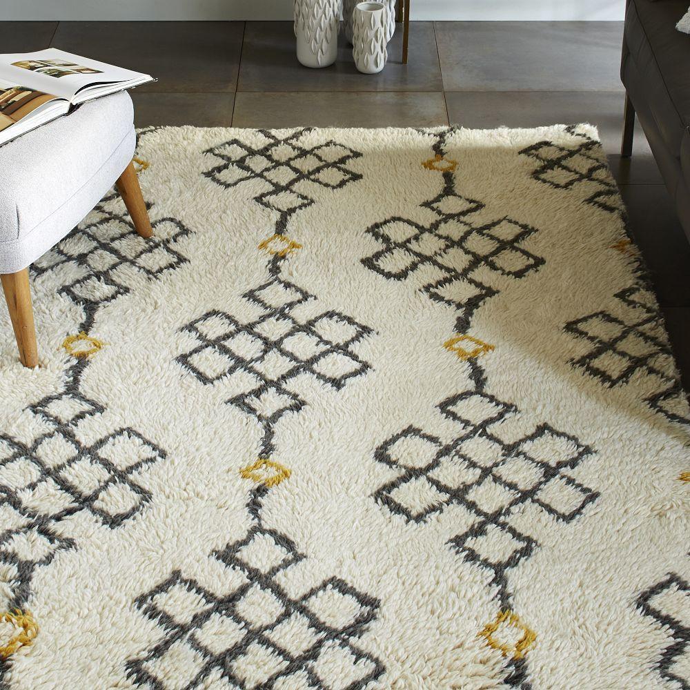 Fes wool shag rug ivory slate west elm australia for Best store to buy rugs
