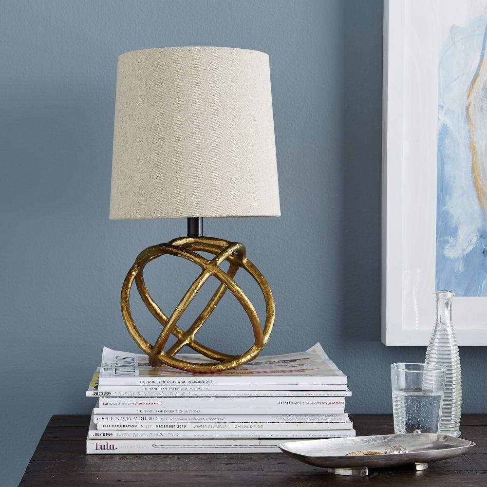mini geodesic table lamp west elm au. Black Bedroom Furniture Sets. Home Design Ideas