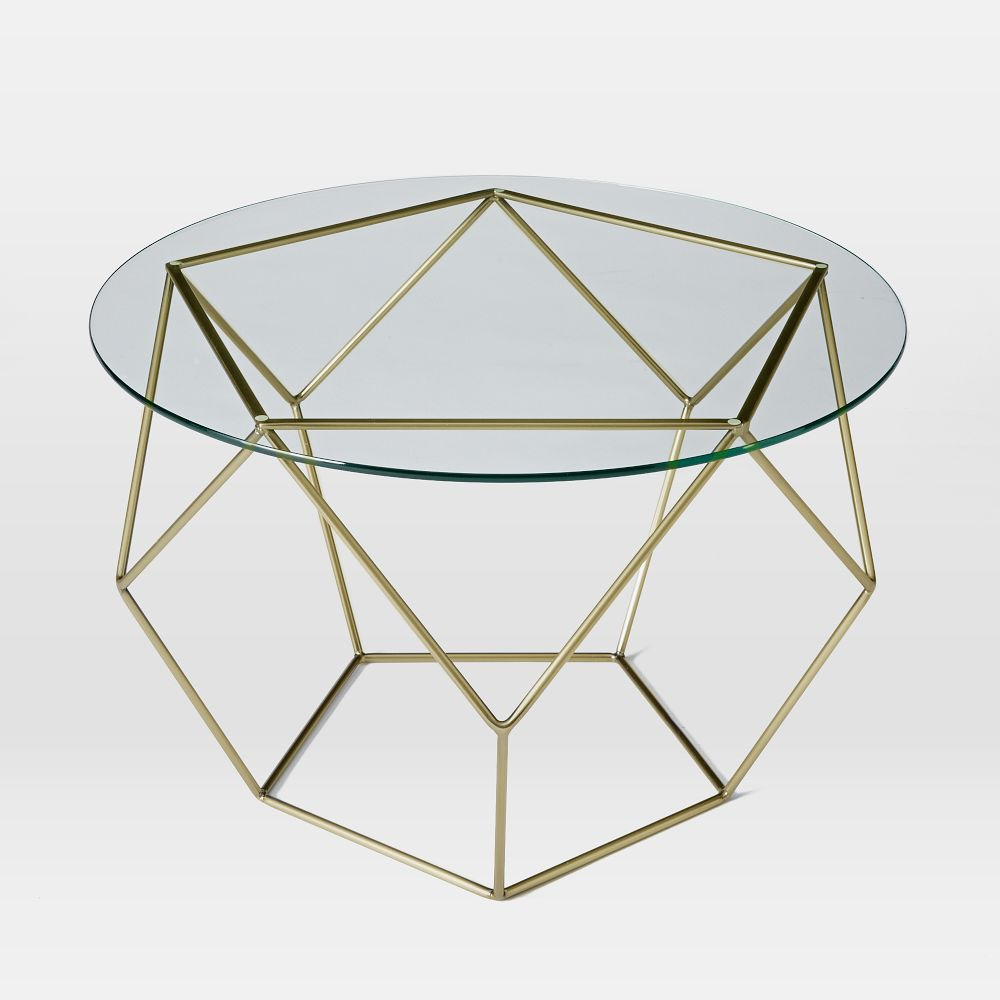 Origami COffee Table - Glass/Antique Brass | west elm AU - photo#25