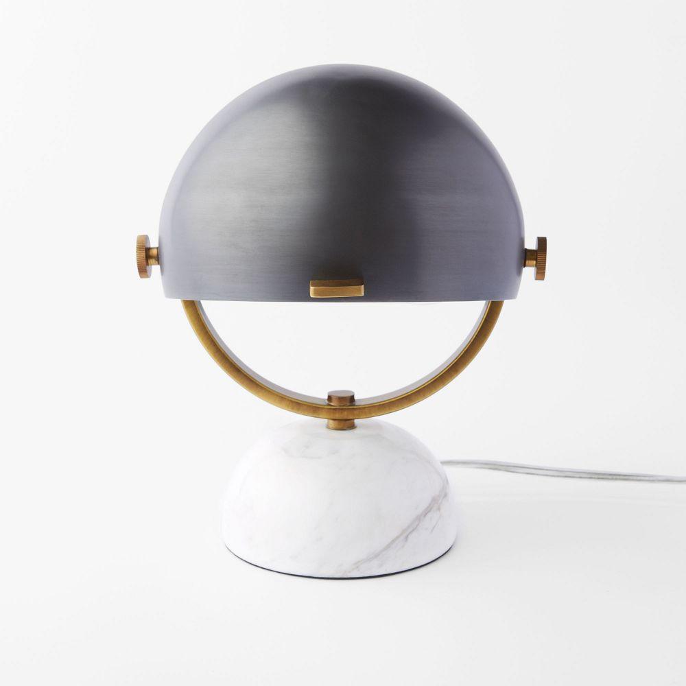Clint Mini Task Lamp Marble Black West Elm Australia