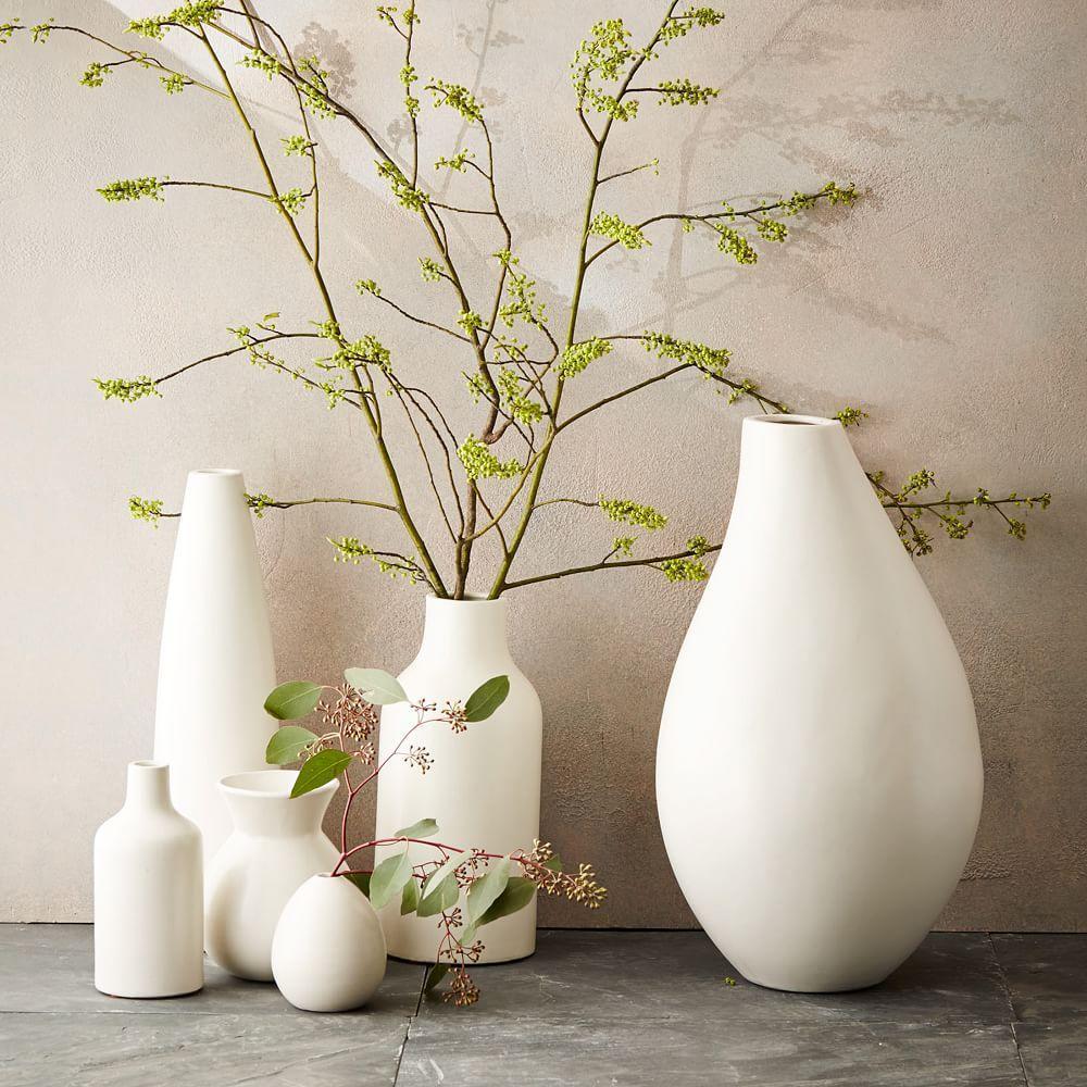 interesting white ceramic vases. Pure White Ceramic Vases  west elm Australia
