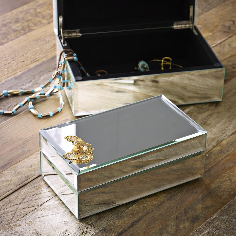 Mirrored jewellery box west elm au for Mirror jewelry box