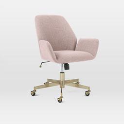 aluna upholstered office chair blackened brass west elm australia