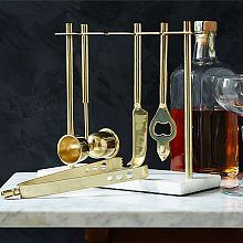 Deco Barware Collection - Gold + Marble