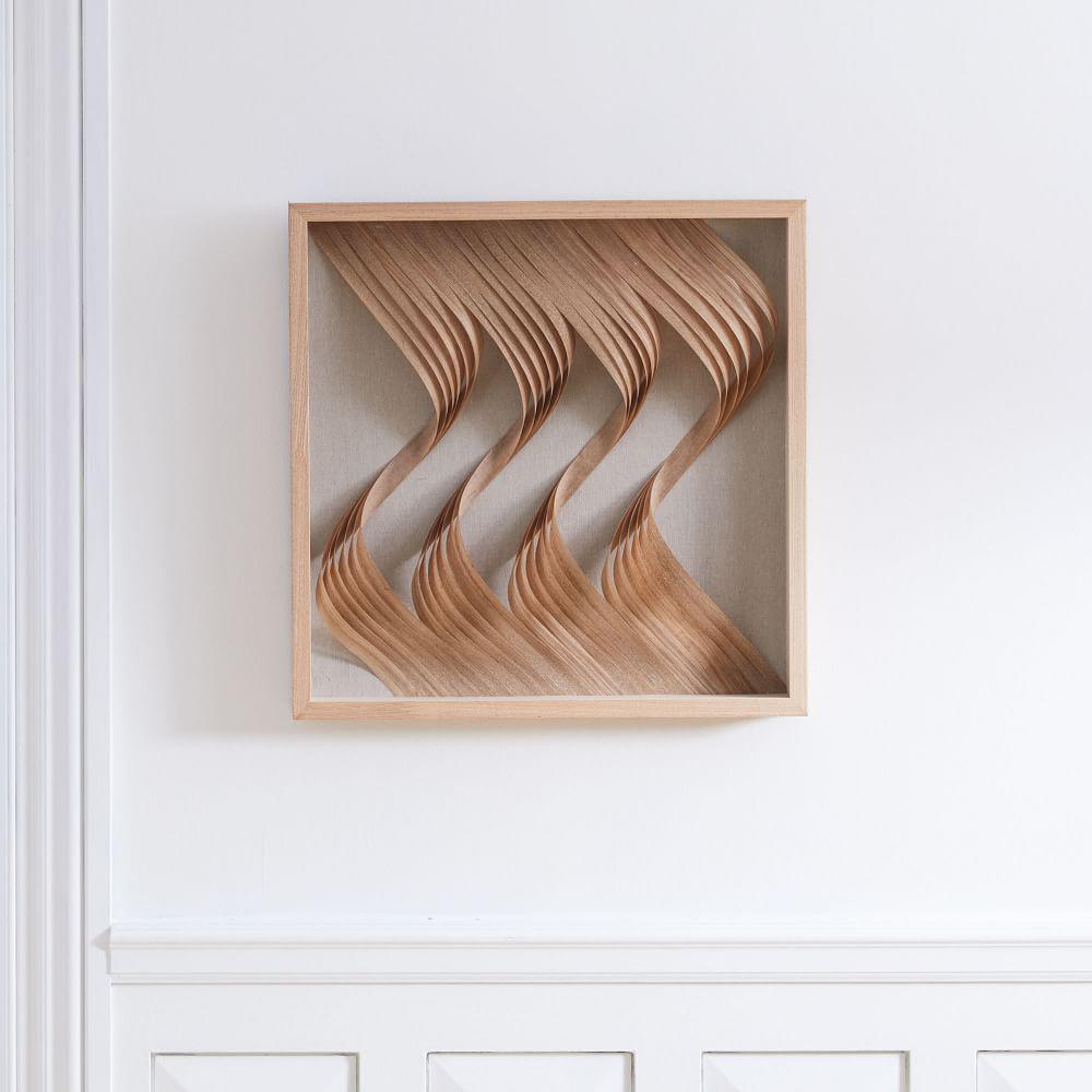 nature of wood wall art curves west elm australia