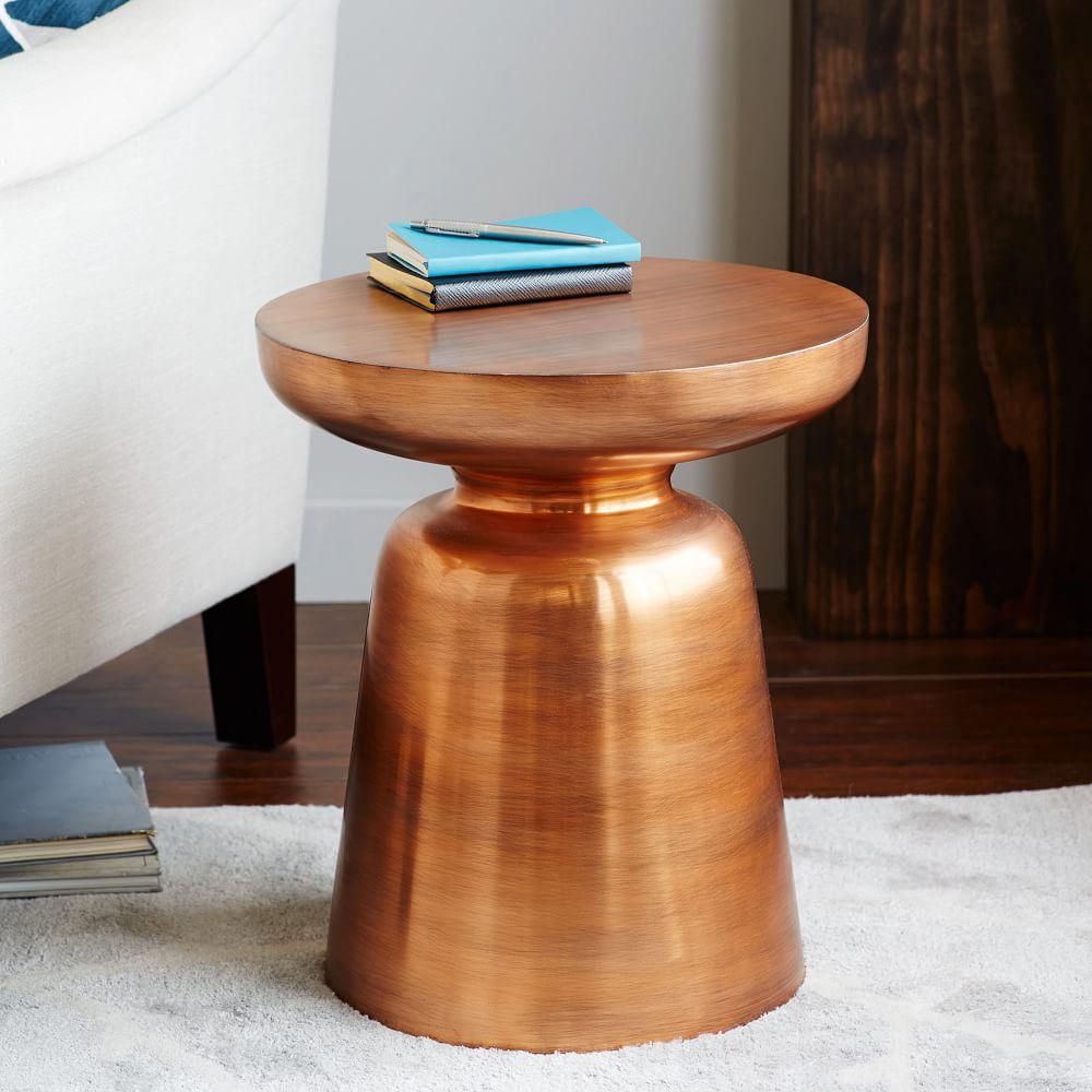 home martini side table copper