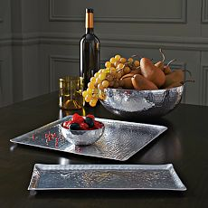 Hammered Metal Tray + Platter