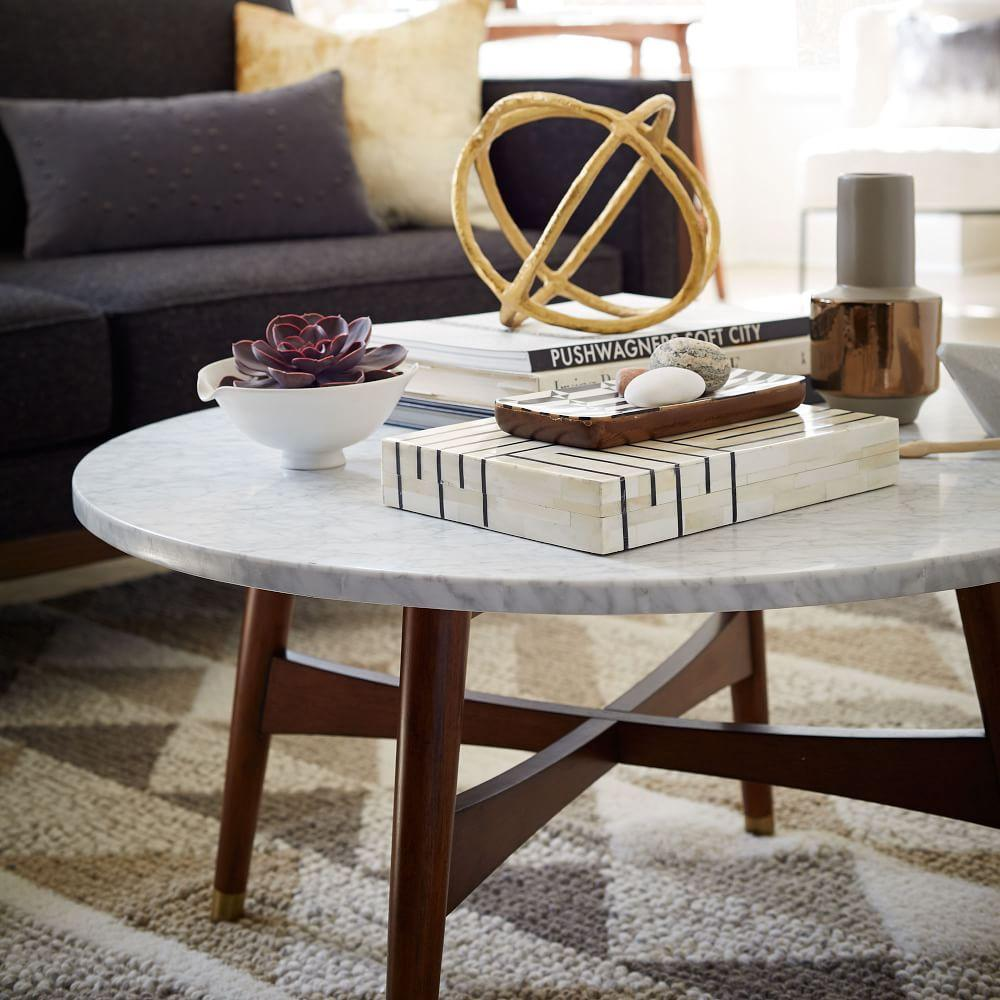 Reeve Mid Century Coffee Table   Marble WalnutReeve Mid Century Coffee Table   Marble Walnut   west elm AU. Marble Dining Table West Elm. Home Design Ideas