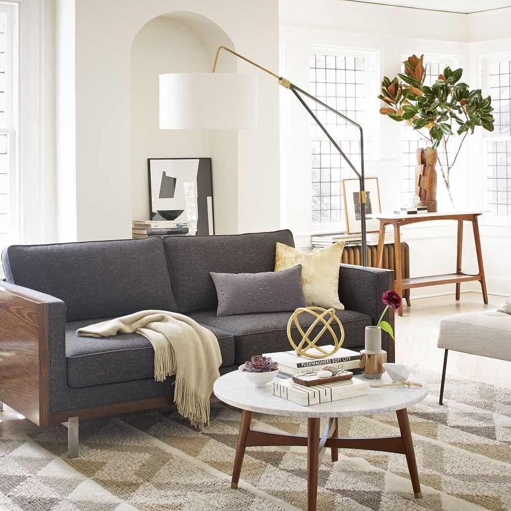 Reeve Mid-Century Coffee Table - Marble/Walnut - Reeve Mid-Century Coffee Table - Marble/Walnut West Elm AU