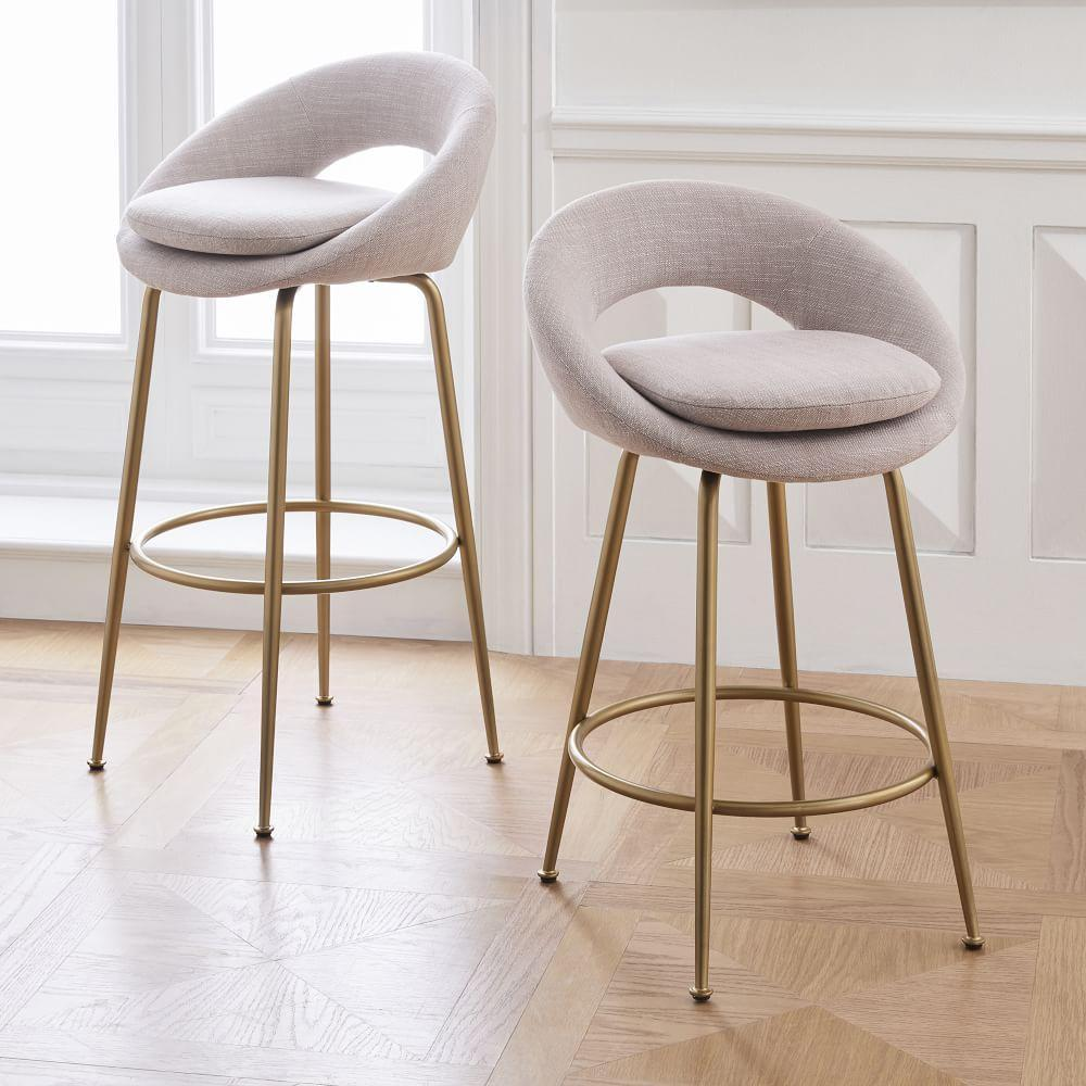 Orb Upholstered Bar Counter Stools West Elm Australia
