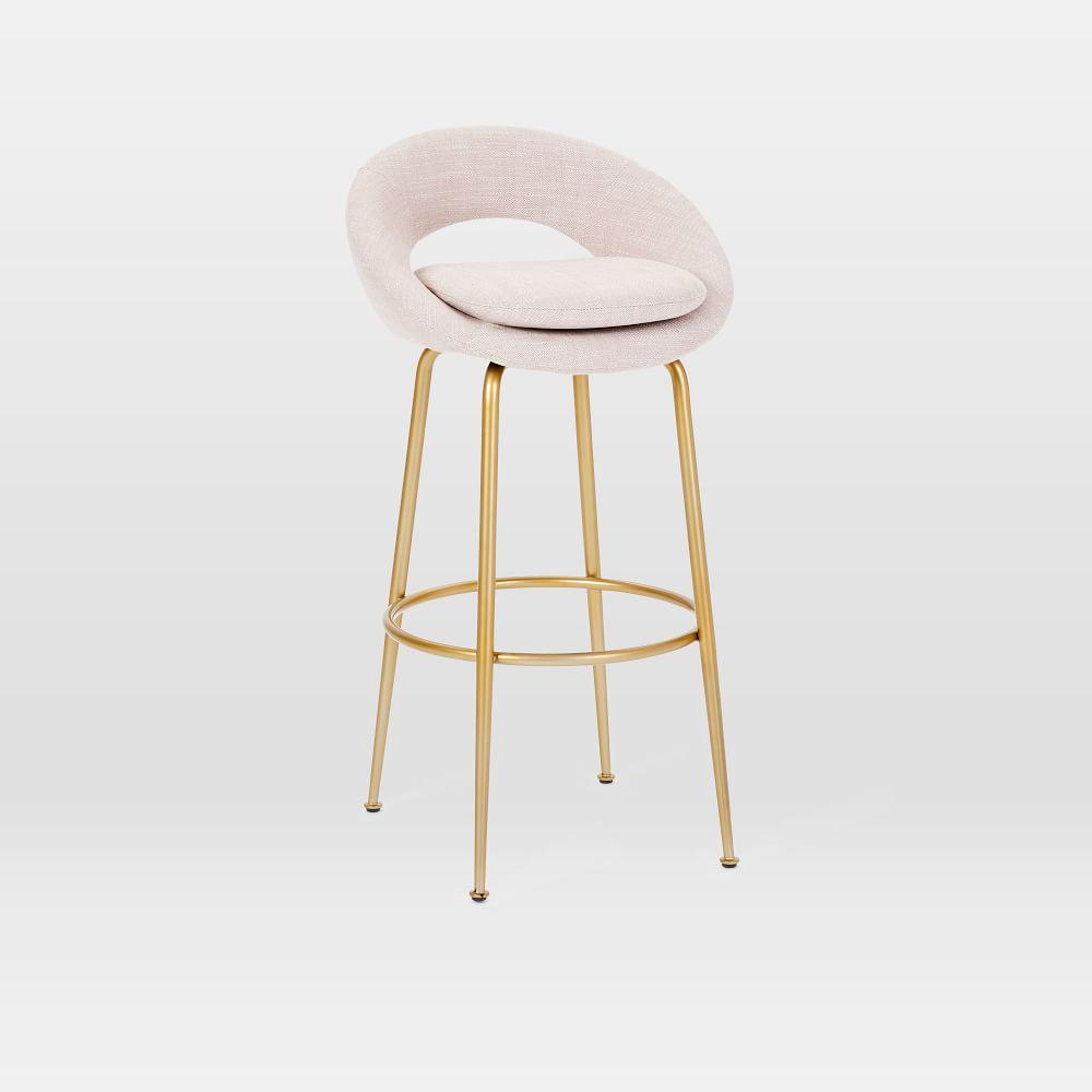 Magnificent Orb Upholstered Bar Counter Stools West Elm Australia Gmtry Best Dining Table And Chair Ideas Images Gmtryco