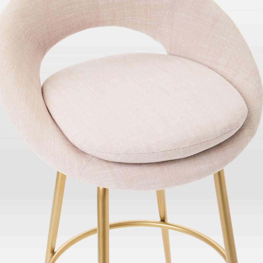 Orb Upholstered Bar + Counter Stools