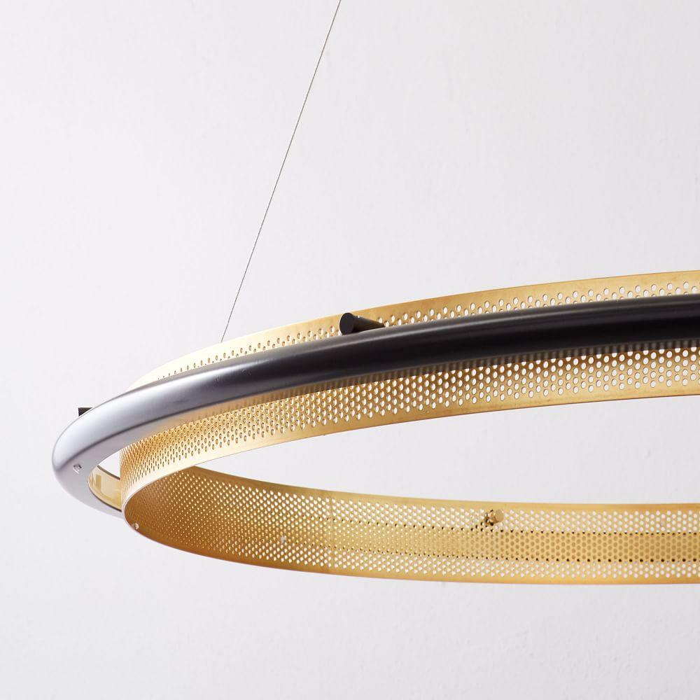 LED Hoop Chandelier