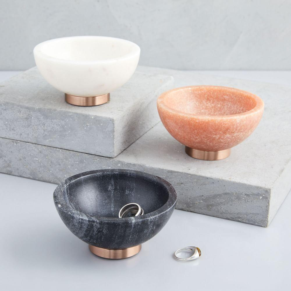 Marble + Copper Dip Bowl