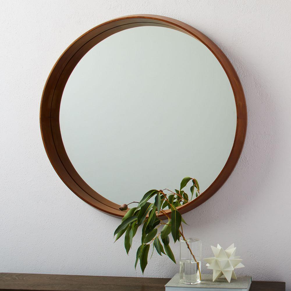Wood Frame Ledge Round Wall Mirror | west elm Australia