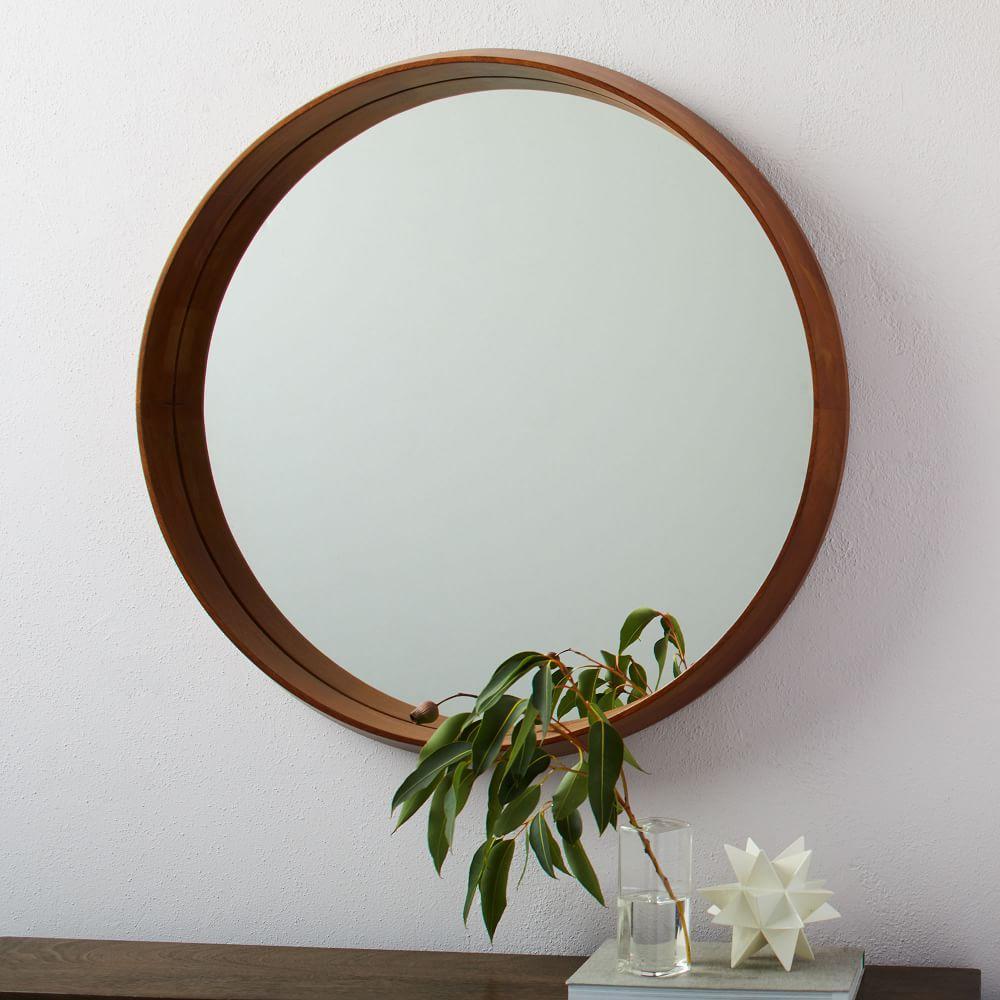 Wood Frame Ledge Round Wall Mirror West Elm Australia