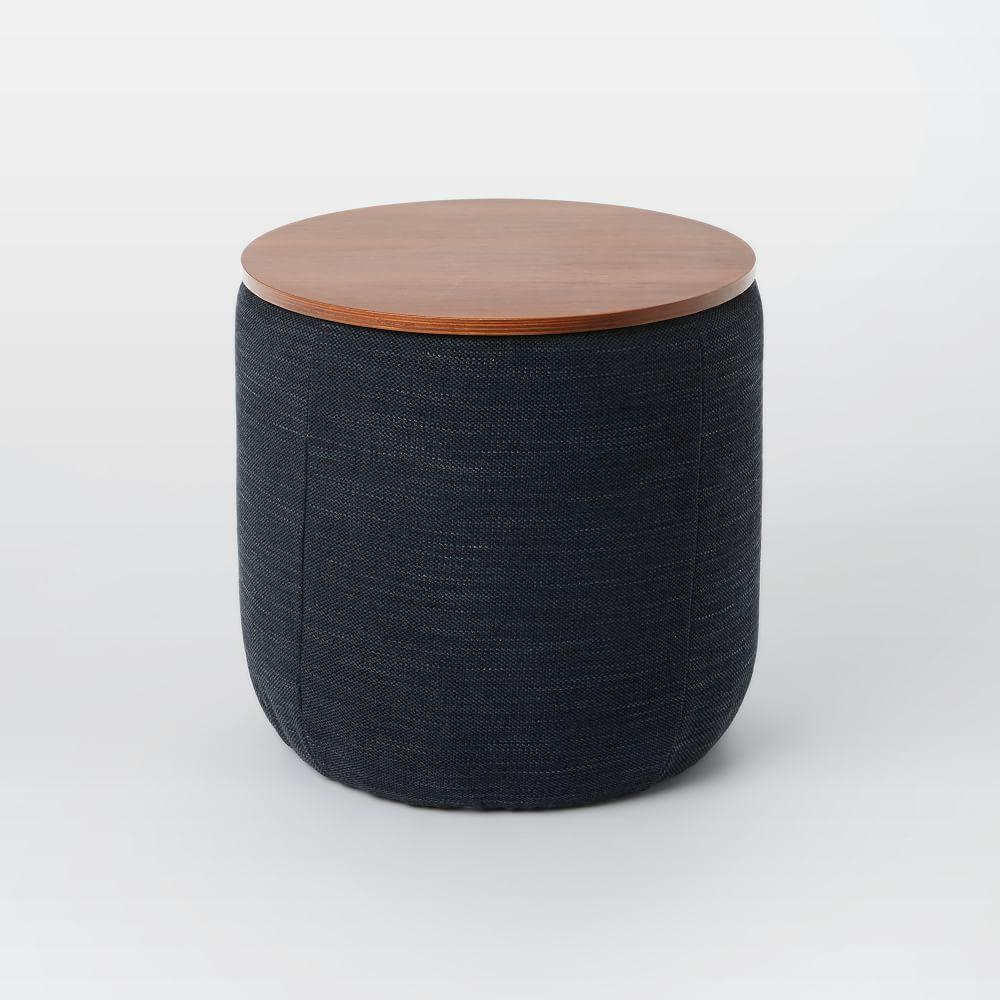Upholstered Storage Base Ottoman - Small
