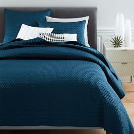 Gramercy Coverlet + Pillowcases - Regal Blue